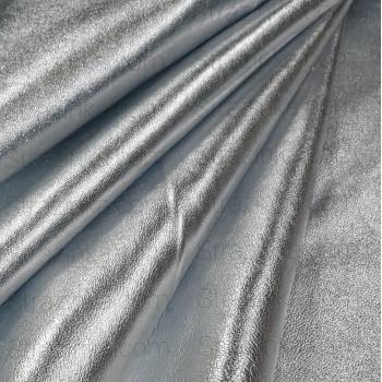 Натуральная кожа, цвет серебряный