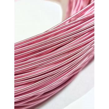 Жесткая канитель 1,25 мм. Светло-розовая (1 метр)