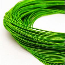 Жесткая канитель 1 мм. Светло-зеленая (1 метр)