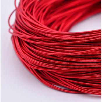 Жесткая канитель 1,25 мм. Красная (1 метр)