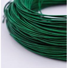 Жесткая канитель 1 мм. Зелёная (1 метр)