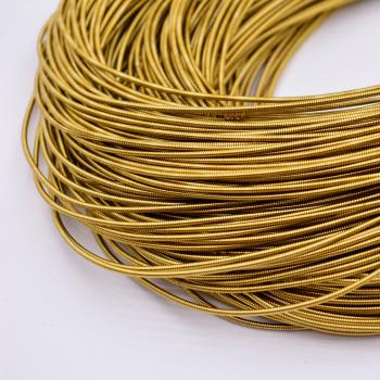 Жесткая канитель 1 мм. Античное золото (1 метр)