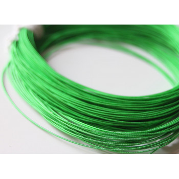 Жесткая канитель 1,25 мм. Ярко-зеленая (1 метр)