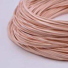 Жесткая канитель 1 мм. Розовое золото (1 метр)