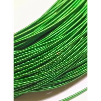 Жесткая канитель 1 мм. Травянисто-зеленая (1 метр)