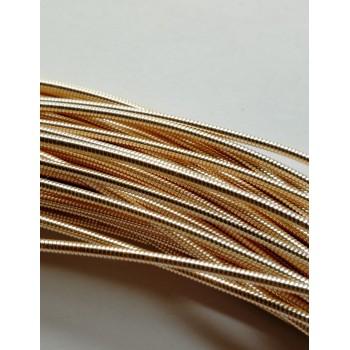 Жесткая канитель 1,25 мм. Розовое золото (1 метр)