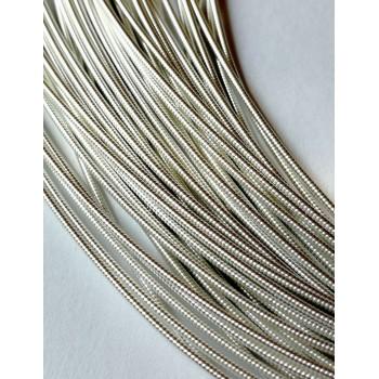 Жесткая канитель 1 мм. Серебро (1 метр)