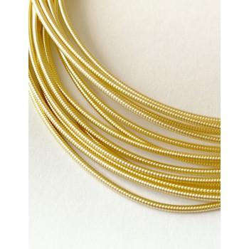Жесткая канитель 1 мм. Светлое золото (1 метр)