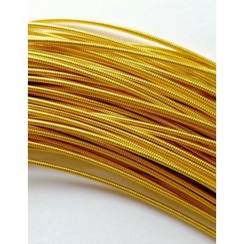 Жесткая канитель 1,25 мм. Яркое золото (1 метр)