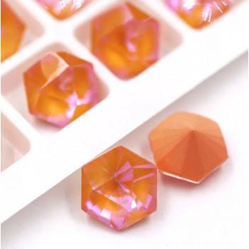 Kaleidoscope Hexagon в цапах Crystal Peach Delite 10 мм.