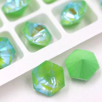 Kaleidoscope Hexagon в цапах Crystal Peridot Delite 10 мм.