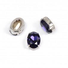 Oval Purple в оправе (хрусталь)