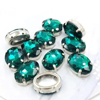 Овал в цапах Emerald 10х14 мм