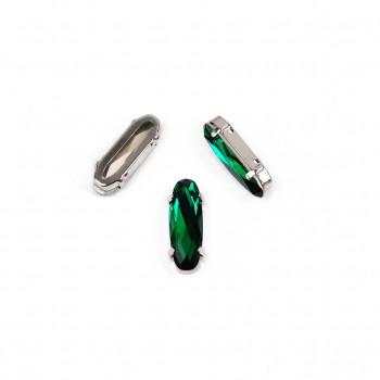 Long Classical Oval Emerald в оправе (хрусталь)