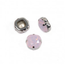 Cushion Pink Opal в оправе (хрусталь)