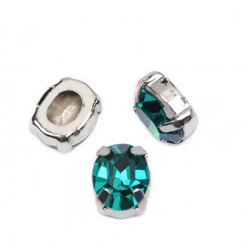 Oval Emerald в оправе (хрусталь)