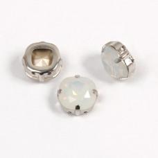 Cushion White Opal в оправе (хрусталь)