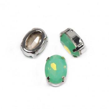 Oval Pacific Opal в оправе (хрусталь)