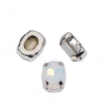 Oval White Opal в оправе (хрусталь)
