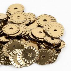 Пайетки рифленые 6 мм. Oro Antico Metallizzati (2071)