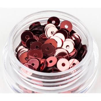 Пайетки плоские 3 мм. Rosa Scuro Metal (3271)