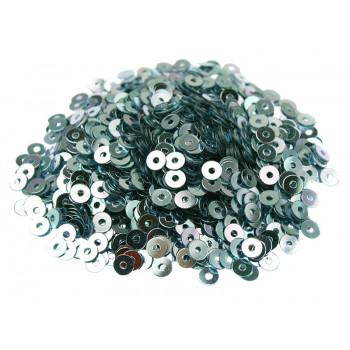 Пайетки плоские 3 мм. Blue Metallizzati (6015)