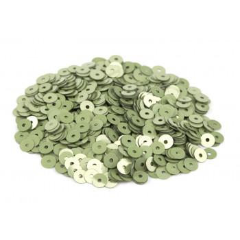 Пайетки плоские 3 мм. Verde Oliva Metal (7039)