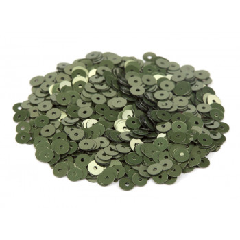 Пайетки плоские 3 мм. Verde Salvia Metal (7049)