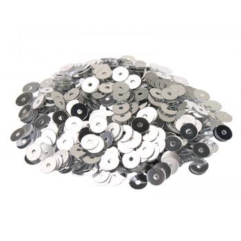 Пайетки плоские 4 мм. Argento Metallizzati (1111)
