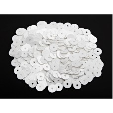 Пайетки плоские 2 мм. Bianco Ghiaccio Opaline (1004)