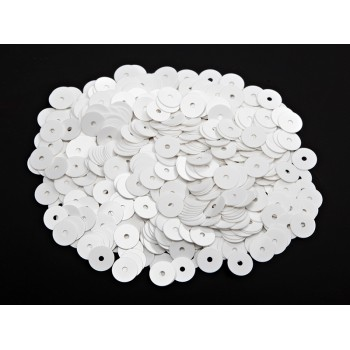 Пайетки плоские 4 мм. Bianco Ghiaccio Opaline (1004)