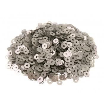 Пайетки плоские 4 мм. Grigio Metal (9009)