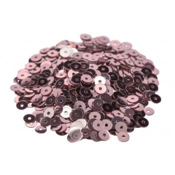 Пайетки плоские 3 мм. Rosa Antico Metallizzati (3071)