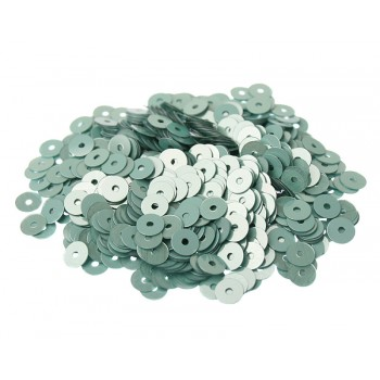 Пайетки плоские 3 мм. Verde Acqua Metal (7029)