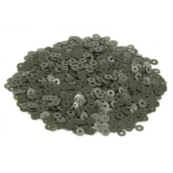 Пайетки плоские 4 мм. Verde Oliva Opaline (7244)