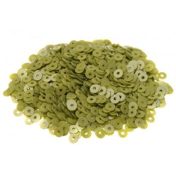 Пайетки плоские 3 мм. Verde Pisello Opaline (7654)