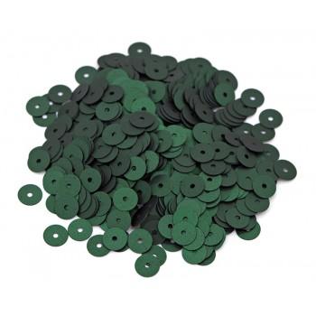 Пайетки плоские 3 мм. Verde Scuro Mt (796W)